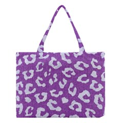 Skin5 White Marble & Purple Denim (r) Medium Tote Bag