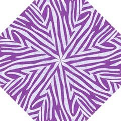 Skin4 White Marble & Purple Denim (r) Folding Umbrellas by trendistuff