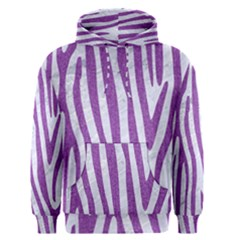 Skin4 White Marble & Purple Denim Men s Pullover Hoodie
