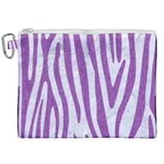 Skin4 White Marble & Purple Denim Canvas Cosmetic Bag (xxl) by trendistuff