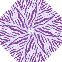 Skin3 White Marble & Purple Denim (r) Golf Umbrellas