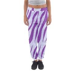 Skin3 White Marble & Purple Denim (r) Women s Jogger Sweatpants