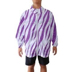 Skin3 White Marble & Purple Denim (r) Wind Breaker (kids)