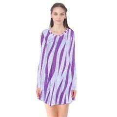 Skin3 White Marble & Purple Denim (r) Flare Dress