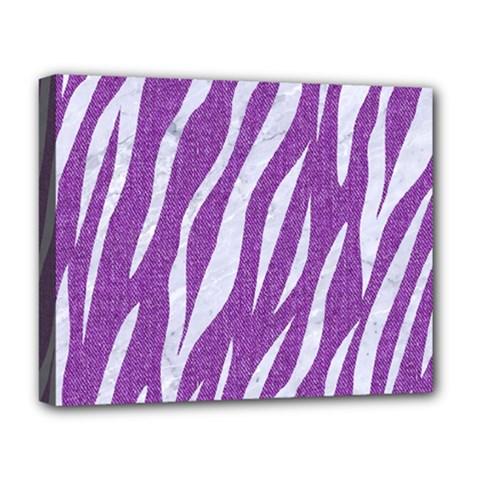 Skin3 White Marble & Purple Denim Deluxe Canvas 20  X 16