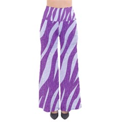 Skin3 White Marble & Purple Denim So Vintage Palazzo Pants