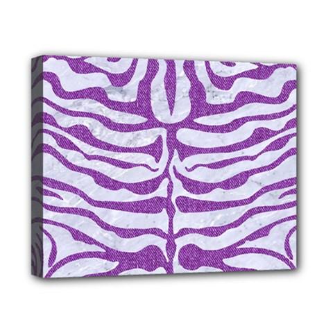 Skin2 White Marble & Purple Denim (r) Canvas 10  X 8