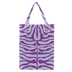Skin2 White Marble & Purple Denim (r) Classic Tote Bag