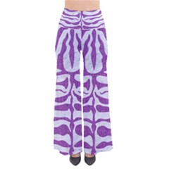 Skin2 White Marble & Purple Denim (r) So Vintage Palazzo Pants