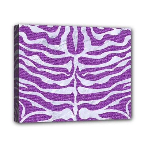 Skin2 White Marble & Purple Denim Canvas 10  X 8