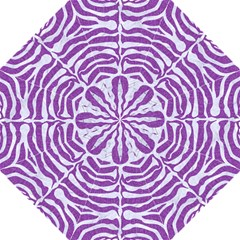 Skin2 White Marble & Purple Denim Folding Umbrellas