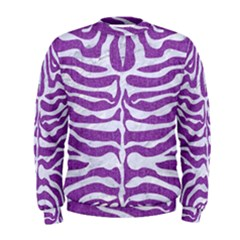 Skin2 White Marble & Purple Denim Men s Sweatshirt