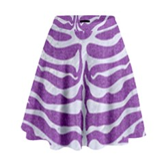 Skin2 White Marble & Purple Denim High Waist Skirt
