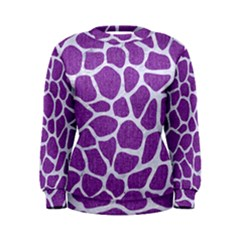 Skin1 White Marble & Purple Denim (r) Women s Sweatshirt