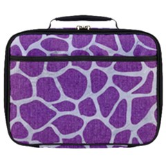 Skin1 White Marble & Purple Denim (r) Full Print Lunch Bag