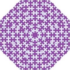 Puzzle1 White Marble & Purple Denim Hook Handle Umbrellas (medium)