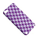 HOUNDSTOOTH2 WHITE MARBLE & PURPLE DENIM Apple iPod Touch 5 Hardshell Case View5