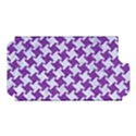 HOUNDSTOOTH2 WHITE MARBLE & PURPLE DENIM Apple iPhone 5 Hardshell Case (PC+Silicone) View1