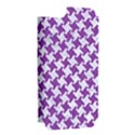 HOUNDSTOOTH2 WHITE MARBLE & PURPLE DENIM Apple iPhone 5 Hardshell Case (PC+Silicone) View2