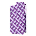 HOUNDSTOOTH2 WHITE MARBLE & PURPLE DENIM Apple iPhone 5 Hardshell Case (PC+Silicone) View3