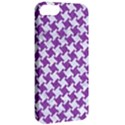 HOUNDSTOOTH2 WHITE MARBLE & PURPLE DENIM Apple iPhone 5 Classic Hardshell Case View2