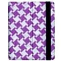 HOUNDSTOOTH2 WHITE MARBLE & PURPLE DENIM Apple iPad Mini Flip Case View2