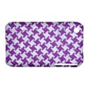 HOUNDSTOOTH2 WHITE MARBLE & PURPLE DENIM iPhone 3S/3GS View1