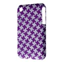HOUNDSTOOTH2 WHITE MARBLE & PURPLE DENIM iPhone 3S/3GS View3