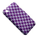 HOUNDSTOOTH2 WHITE MARBLE & PURPLE DENIM iPhone 3S/3GS View5