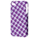 HOUNDSTOOTH2 WHITE MARBLE & PURPLE DENIM Apple iPhone 4/4S Hardshell Case (PC+Silicone) View3