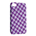 HOUNDSTOOTH2 WHITE MARBLE & PURPLE DENIM Apple iPhone 4/4S Hardshell Case with Stand View2