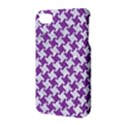 HOUNDSTOOTH2 WHITE MARBLE & PURPLE DENIM Apple iPhone 4/4S Hardshell Case with Stand View3