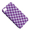 HOUNDSTOOTH2 WHITE MARBLE & PURPLE DENIM Apple iPhone 4/4S Hardshell Case with Stand View5