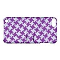 HOUNDSTOOTH2 WHITE MARBLE & PURPLE DENIM Apple iPod Touch 5 Hardshell Case with Stand View1