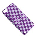 HOUNDSTOOTH2 WHITE MARBLE & PURPLE DENIM Apple iPod Touch 5 Hardshell Case with Stand View5