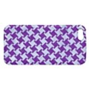 HOUNDSTOOTH2 WHITE MARBLE & PURPLE DENIM Apple iPhone 5 Premium Hardshell Case View1