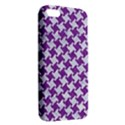 HOUNDSTOOTH2 WHITE MARBLE & PURPLE DENIM Apple iPhone 5 Premium Hardshell Case View2