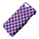 HOUNDSTOOTH2 WHITE MARBLE & PURPLE DENIM Apple iPhone 5 Premium Hardshell Case View4