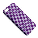 HOUNDSTOOTH2 WHITE MARBLE & PURPLE DENIM Apple iPhone 5 Premium Hardshell Case View5