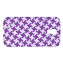 HOUNDSTOOTH2 WHITE MARBLE & PURPLE DENIM Samsung Galaxy S4 I9500/I9505 Hardshell Case View1