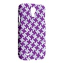 HOUNDSTOOTH2 WHITE MARBLE & PURPLE DENIM Samsung Galaxy S4 I9500/I9505 Hardshell Case View2