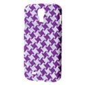 HOUNDSTOOTH2 WHITE MARBLE & PURPLE DENIM Samsung Galaxy S4 I9500/I9505 Hardshell Case View3