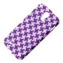 HOUNDSTOOTH2 WHITE MARBLE & PURPLE DENIM Samsung Galaxy S4 I9500/I9505 Hardshell Case View4
