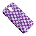 HOUNDSTOOTH2 WHITE MARBLE & PURPLE DENIM Samsung Galaxy S4 I9500/I9505 Hardshell Case View5