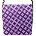 HOUNDSTOOTH2 WHITE MARBLE & PURPLE DENIM Flap Covers (S)  View1