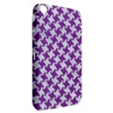 HOUNDSTOOTH2 WHITE MARBLE & PURPLE DENIM Samsung Galaxy Tab 3 (8 ) T3100 Hardshell Case  View2