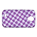 HOUNDSTOOTH2 WHITE MARBLE & PURPLE DENIM Samsung Galaxy S4 Classic Hardshell Case (PC+Silicone) View1