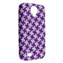 HOUNDSTOOTH2 WHITE MARBLE & PURPLE DENIM Samsung Galaxy S4 Classic Hardshell Case (PC+Silicone) View2