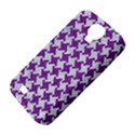 HOUNDSTOOTH2 WHITE MARBLE & PURPLE DENIM Samsung Galaxy S4 Classic Hardshell Case (PC+Silicone) View4