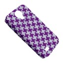 HOUNDSTOOTH2 WHITE MARBLE & PURPLE DENIM Samsung Galaxy S4 Classic Hardshell Case (PC+Silicone) View5
